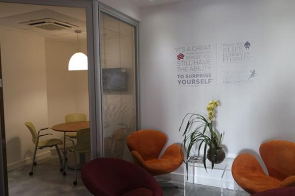 Decoração de paredes para escritório